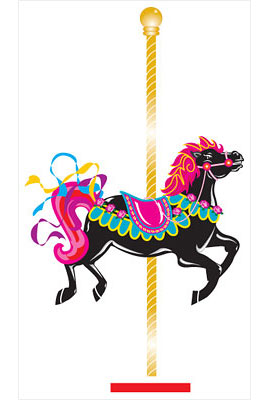 carousel horse illustration