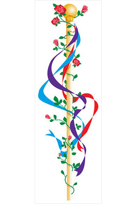 pole with streamers illustration