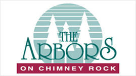The Arbors Apartments on Chimney Rock Logo Design